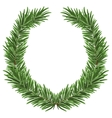 Fir wreath Green lush spruce branch Fir branches vector image vector image