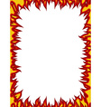 Fire frame Flames on edges Flame background vector image vector image