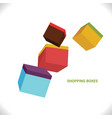 fly shopping box color business design vector image vector image