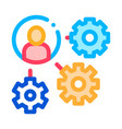 gear mechanism and man silhouette agile vector image