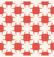geometric red terracotta seamless pattern vector image