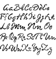 handwritten brush script vector image