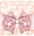 Holiday background with pink bow vector image vector image