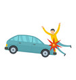 knock down icon flat style vector image vector image