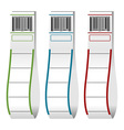 luggage tags with barcodes vector image vector image