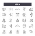 man line icons signs set outline vector image vector image