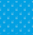 mask protection pattern seamless blue vector image vector image