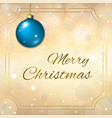 merry christmas decoration background in gold vector image
