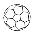 monochrome blurred silhouette of soccer ball vector image vector image