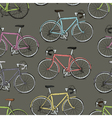 multi colored bicycles seamless pattern vector image vector image