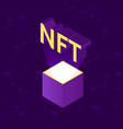 nft non-fungible tocken isometric vector image vector image