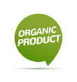 organic product icon background eco nature health vector image vector image