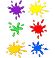 paintball color splash set vector image vector image
