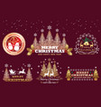 set of christmas emblems vector image