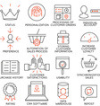 Set of icons related to business management - 12 vector image vector image