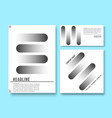 set printed products templates minimal vector image