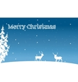 Silhouette of Christmas deer and spruce winter vector image vector image