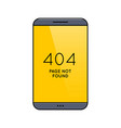 smartphone with 404 error page on screen vector image vector image
