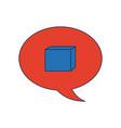 speech bubble message chat dialog conversation vector image