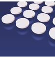 Three dimensional abstract white pills on dark vector image