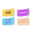 ticket to performance with date sign set vector image vector image