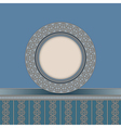 Vintage plate background vector image vector image