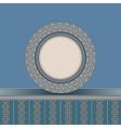 Vintage plate background vector image