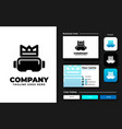 virtual reality logo design inspiration vector image