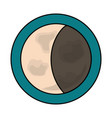 waning gibbous moon vctor vector image vector image