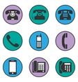 Set of different phone icons vector image
