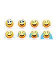 cartoon emoji animation collection vector image