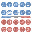 Icons of art and science vector image