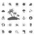 palms icon vector image