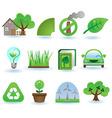 environment icon set vector image