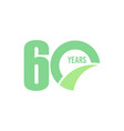 60 year anniversary template design vector image vector image