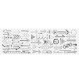 arrows different shapes and directions doodle vector image