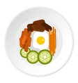 Bibimbap korean dish icon flat style vector image vector image