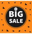 Big sale black tag circle round banner advertising vector image