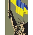Call For Democracy In Ukraine vector image