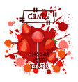 candy strawberry lolly dessert colorful icon vector image