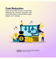 cost reduction concept with character template vector image vector image