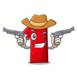cowboy character number one on the platform vector image
