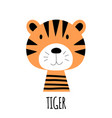 cute little tiger animal icon vector image vector image