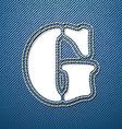 Denim jeans letter G vector image vector image