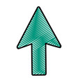 doodle arrow sign up direction icon vector image vector image