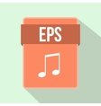 EPS file icon flat style vector image vector image