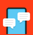 flat style online chat with frameless phone vector image