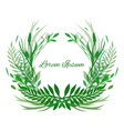 frame leaves plants and herbs with space for text vector image vector image