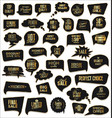 gold and black sale speech bubbles on white vector image vector image