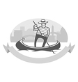 gondola with gondolier vector image